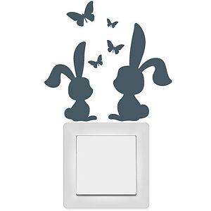 11040-INTERRUPTOR-LUZ-tomacorriente-ADHESIVO-Conejo-mariposas-Wandtattoo-loft