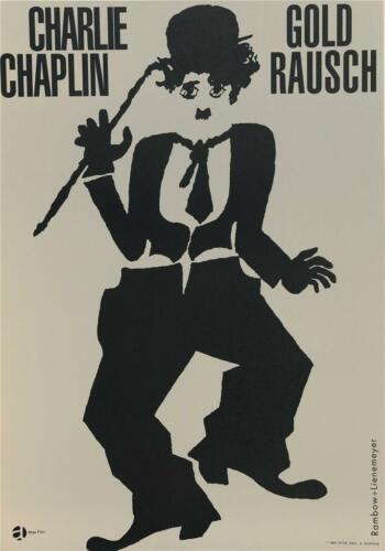 Charlie Chaplin Gold Rausch Vintage Movie Poster Lithograph Hand Pulled S2 Art