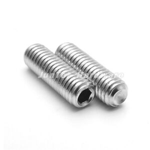 1//4/'/'-20,1//4/'/'-28,5//16/'/'-18 Hex Socket Set Grub Cup Point Screw ASMEB18.3  A2 SS