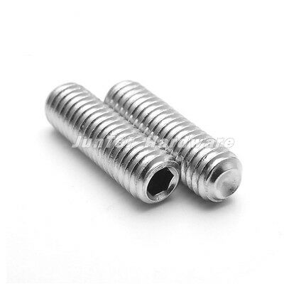 #6-32UNC A2 Stainless Steel Socket Set Grub Cup Point Screws