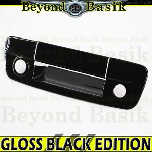 For 2009-2018 DODGE RAM 1500 GLOSS BLACK Door Handle COVERS W//2 SMART Keyholes