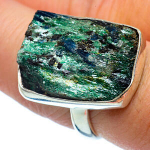 Green-Fuchsite-Crystal-925-Sterling-Silver-Ring-Size-8-5-Ana-Co-Jewelry-R37486F