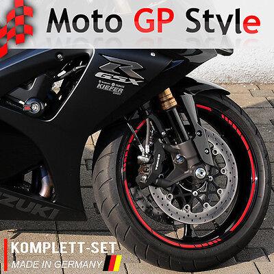 NEW wei/ß Felgenrandaufkleber GP Style Auto Motorrad Felgenaufkleber
