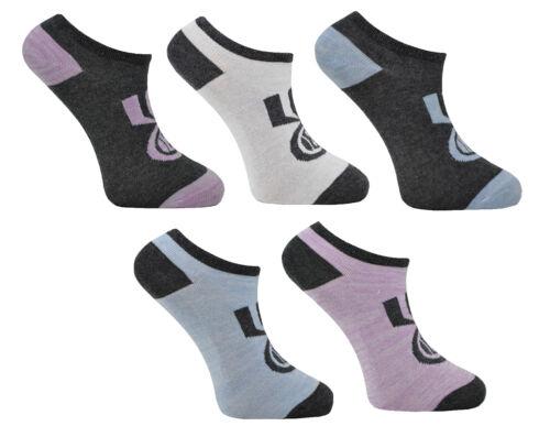 Femmes Crosshatch 5 Paires Sport formateur Liners Socquettes Taille UK 4-8 EU 37-42