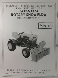 craftsman manual for snowblower