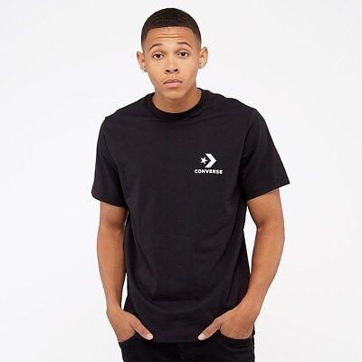 Converse Left Chest Star Chevron Tee Men's New Black White T Shirt 10007886 001 | eBay