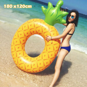 Floats, Rafts Inflatable Giant Pineapple Swimming Pool Float Swim Water Sport Beach Kids Toy Home & Garden