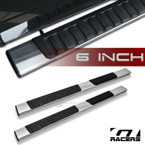 """For 2007-2018 Silverado Extended//Double Cab 6/"""" Aluminum Side Step Running Boards"""