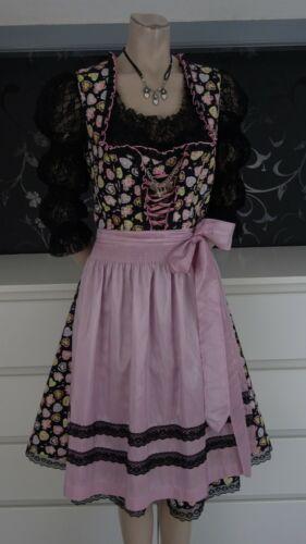 German Bavarian Dirndl Dress + Blouse + Apron 10-1