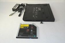 IBM Lenovo ThinkPad X60 X60s X6 Ultrabase Docking Station w/CDRW DVD &AC Adapter