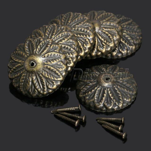 50Pcs Vintage Bronze Upholstery Nail Tacks Studs Furniture Door Decorative Studs