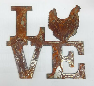 "6/"" LOVE Square Idaho State Rusty Metal Wall Art Craft Stencil Vintage Sign DIY"
