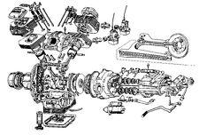 Moto Guzzi V75 -  47 Motor Schrauben Set 7  Normteile Satz NEU