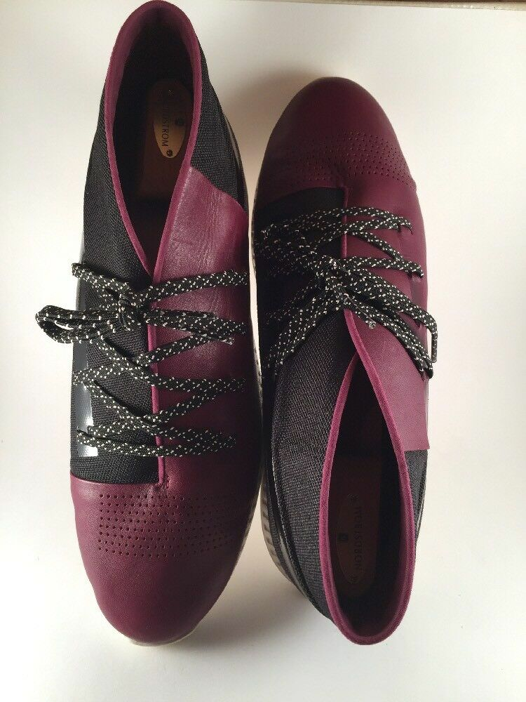 New- Under Armour Veloce Mid Leather Shoes Sneakers Sz 13 1296613-609 Purple/Blk Scarpe classiche da uomo
