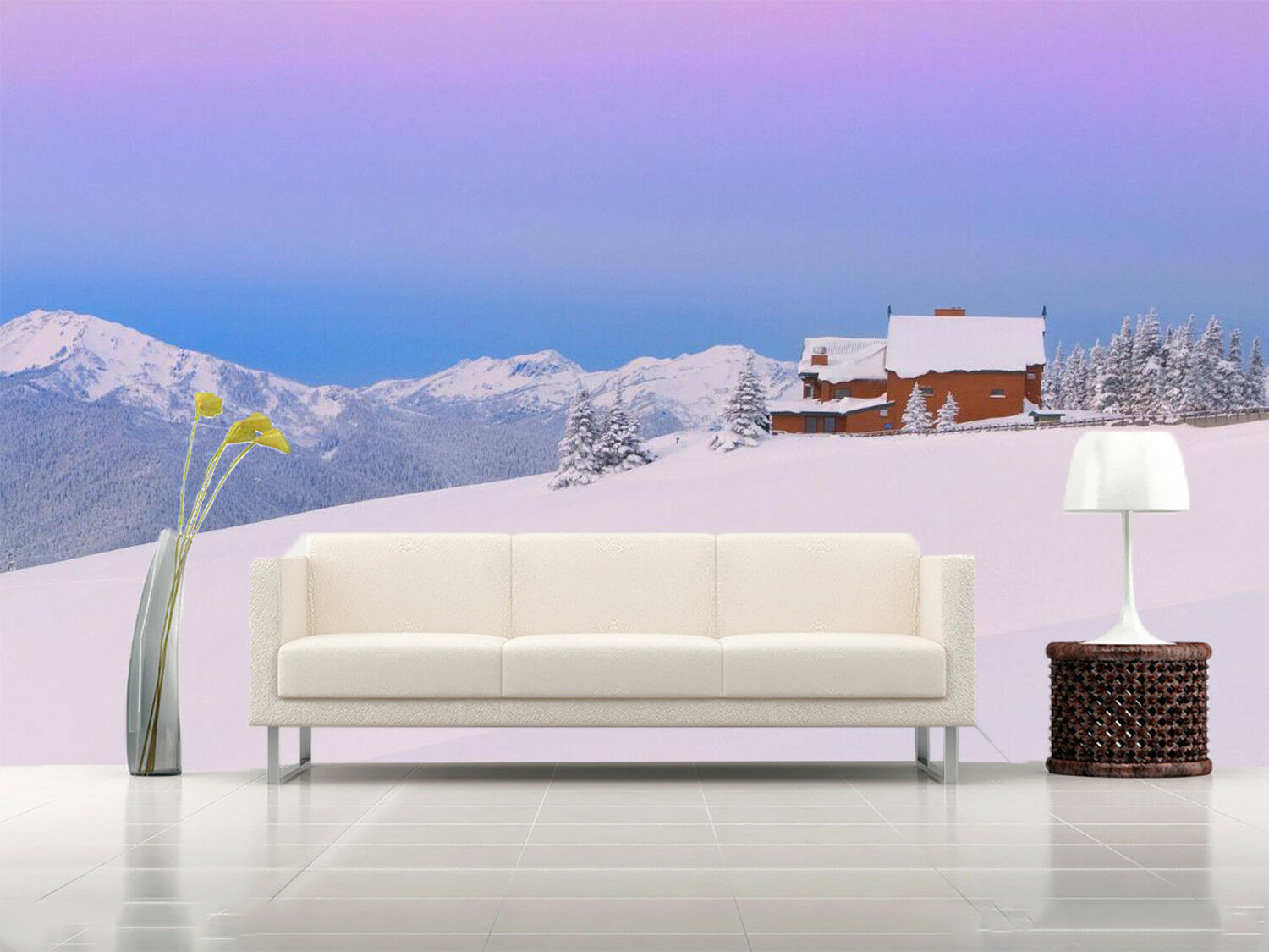 3D Snow Mountain 987 Wallpaper Mural Wall Print Wall Wallpaper Murals US Summer