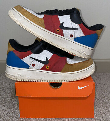 Nike Air Force 1 Low Sail Amber Rise 9.5 White Blue Red CI0065-101 One 2 3 4 5 6 193145675230 | eBay
