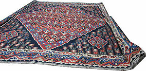 Extra large size flat weave Persian Qashagi Kilim 190398034x12039 in blues and reds - <span itemprop=availableAtOrFrom>London, United Kingdom</span> - I will refund your purchase excluding P&P If the description does not match the item. Most purchases from business sellers are protected by the Consumer Contract Regulations 2013 which giv - London, United Kingdom