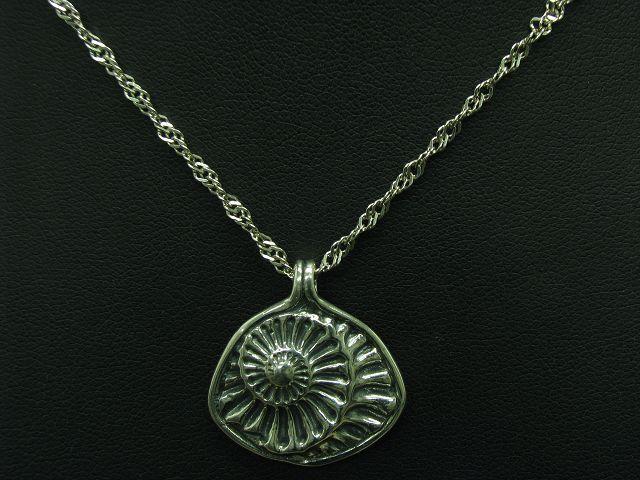 925 Sterling silver Kette & Anhänger   Ammonit Motiv   Echtsilver   45,0cm