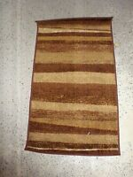 Dalyn Rug Company Monterey Chocolate Stripe 19 X 33 Brown Cream Nylon