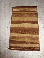 Dalyn Rug Company Monterey Chocolate Stripe 19 X 33 Brown Cream Nylon