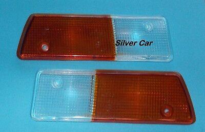 Coppia plastica fanalino anteriore incolore dx e sx Fiat 124 Spider
