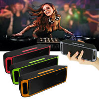Wireless Bluetooth Mini Speaker Usb Flash Fm Radio Stereo Super Bass Mp3 Player