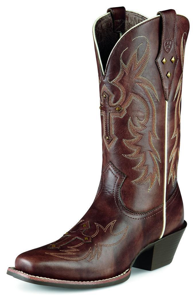 Ariat Western Womens Boots Legend Spirit Leather Cowboy Yukon Brown 10007953
