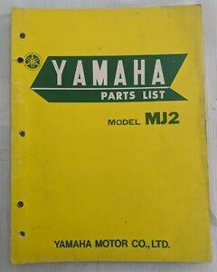 1962 1965 Yamaha Mj 2 Moped Motorcycle Parts Manual Original Ebay