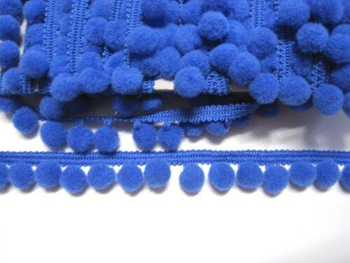 Pomponborte Bommelborte Blau ∅ 1cm BO-PO-15
