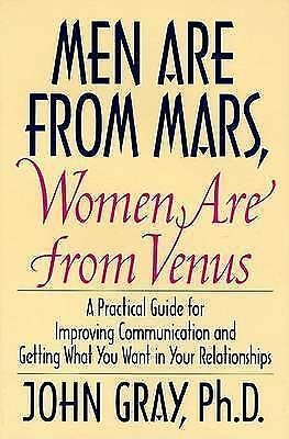 1 of 1 - Men Are from Mars, Women Are from Venus by John Gray (Hardback, 1992)