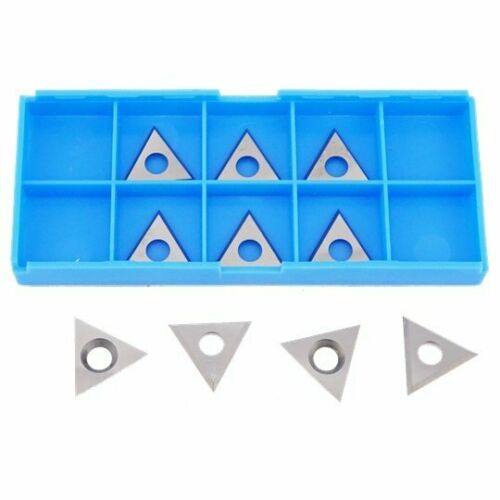 22 x 22 x 2mm Solid Carbide Triangle Spur Tips 10pcs