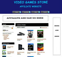 VIDEO GAMES WEBSITE FOR SALE WITH UK AFFILIATE STORE & ADSENSE + DOMAIN