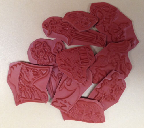 10 pc Western Stamps Grab Bag Horses Unmounted Rubber Stamps Southwestern