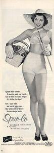 1952 Spun-lo Pretty Woman Bra  Underwear Panties Gardening theme PRINT AD