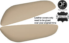 BEIGE LEATHER 2X REAR DOOR ARMREST COVERS FITS BMW E46 CONVERTIBLE COUPE