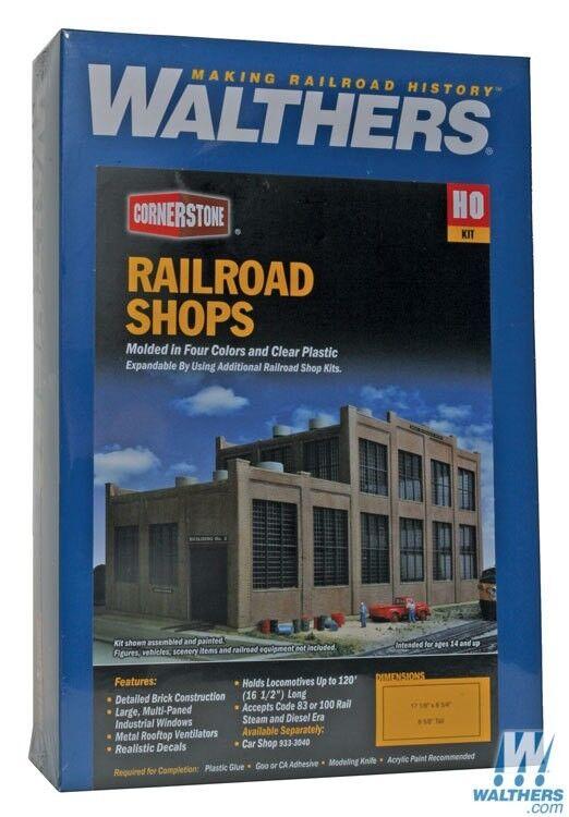 Ho Walthers Piedra Angular Kit 933-2970   Tiendas De Ferrocarril Nuevo En Caja