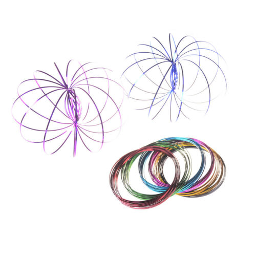 Rainbow Magic Flow Ring Slinky 3D Fun  Spring Infinity Arm Juggle Toys UK
