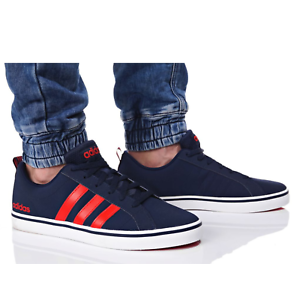 Adidas VS PACE B74317 Navy Red Trainers Shoes Footwear Laces Ankle Collar