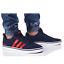 thumbnail 1 - Adidas VS PACE B74317 Navy Red Trainers Shoes Footwear Laces Ankle Collar