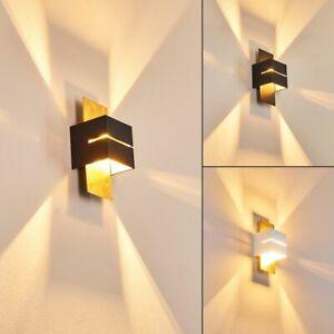 Design Flur Dielen Lampe goldfarben Wand Strahler Wohn Schlaf Zimmer Beleuchtung