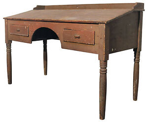 Image Is Loading Primitive Wooden Antique Standing Desk From Foundry  Industrial