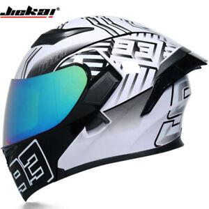DOT-Motorcycle-Helmet-Flip-Up-Full-Face-Modular-Helmet-w-Dual-Sun-Visor-amp-Spoiler