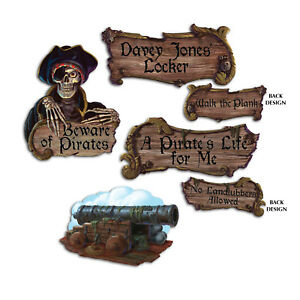 4-PACK-LARGE-PIRATE-SHAPED-WALL-SIGN-PARTY-DECORATIONS