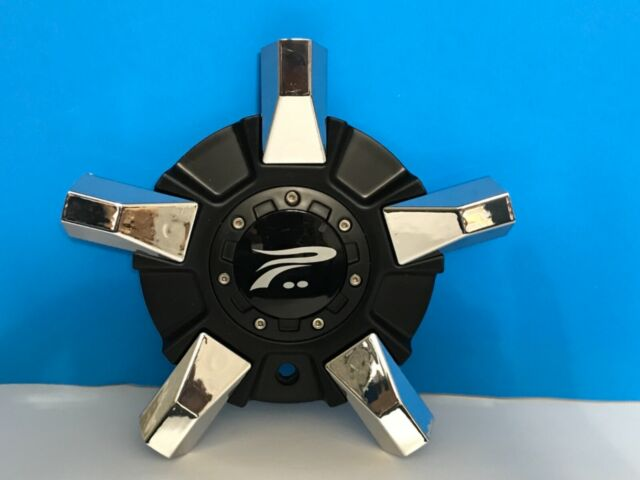 Rare Platinum Custom Wheel Flat Black Chrome Wheel Center