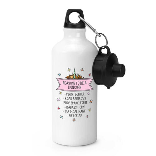 Reasons To Be A Lioncorn Sports Drinks Bottle Camping Flask Funny Lion Unicorn