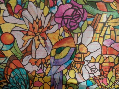 Dépoli Fleur vitrail Sticky Back Plastic Self Adhesive Vinyl Film