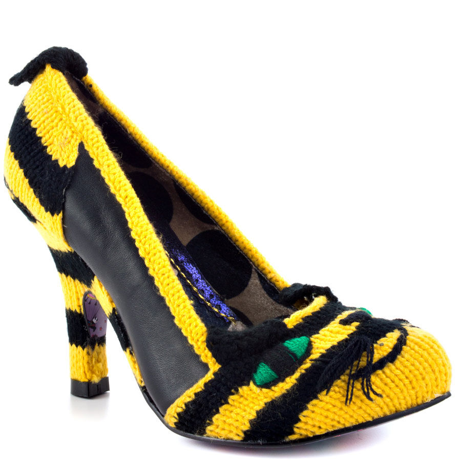 alta qualità IRREGULAR IRREGULAR IRREGULAR CHOICE AUDREY LOVES scarpe 9.5 nero giallo TIGER ANIMAL  225  gli ultimi modelli