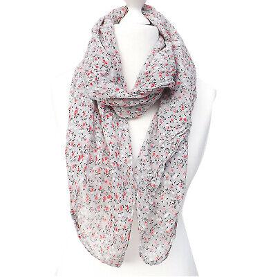Schal  MADE IN ITALY Damen Damenschal Langschal Tuch grau hellgrau weiß