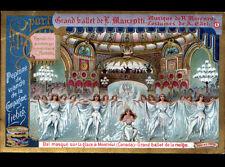 IMAGE LIEBIG ,BALLET de MANZOTTI ,BALLET des NEIGE ,BAL masqué à MONTREAL Canada