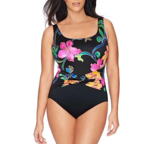 LONGITUDE GREAT LENGTHS Plus Size 22 Thailand Twist-Sash Swimsuit NWT